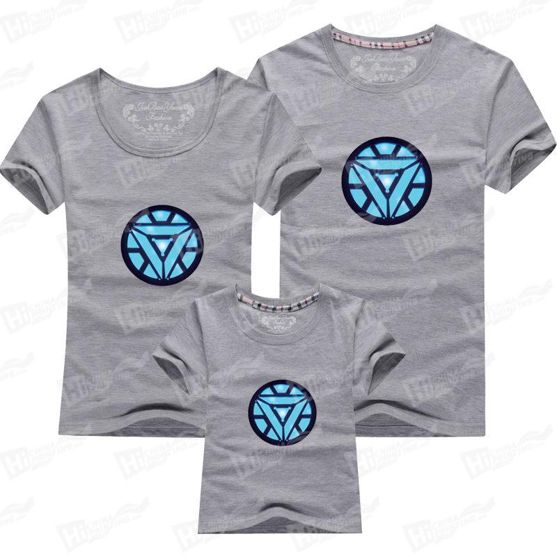 Iron Man Family Matching T-shirts Printing For Wholesale