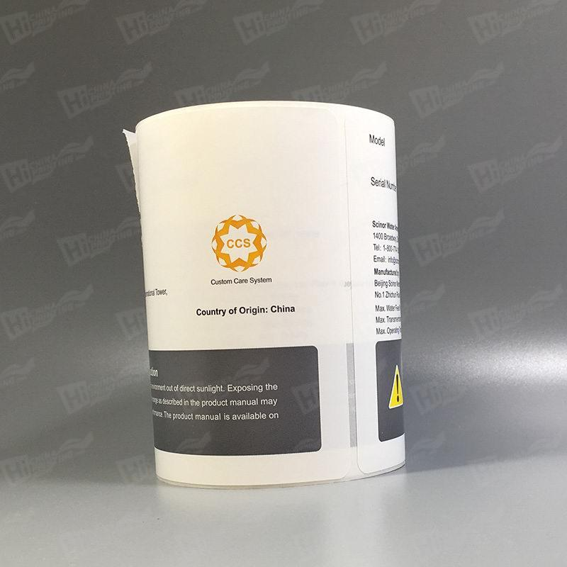 Synthetic Self Adhesive Labels Printing