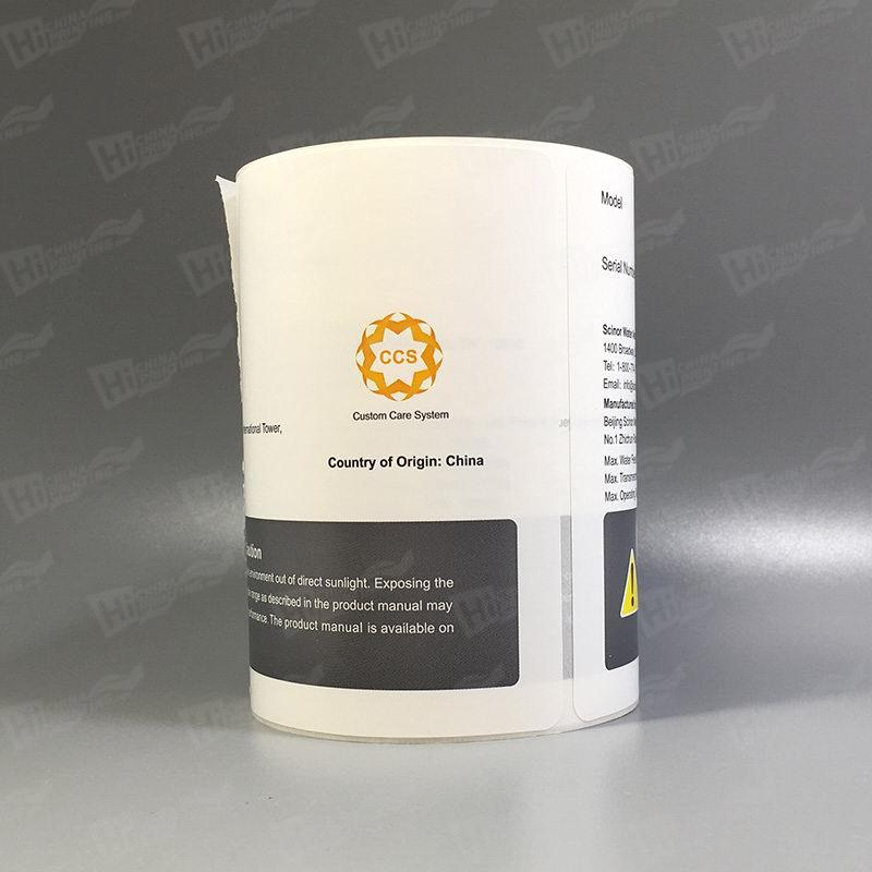 Waterproof And Chemical Resistant Synthetic Labels Printing